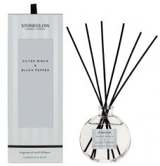 Stoneglow Candles Modern Classics SILVER BIRCH and BLACK PEPPER Reed Diffuser Gift Boxed